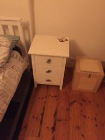 White bear new vintage side tables x 2