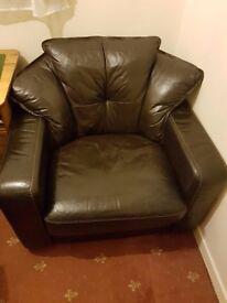 Italian Leather Armchair £60