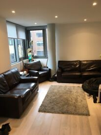 Leather Sofa and Armchair Settee Couch Suite