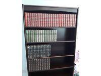 Solid mahogany book shelf