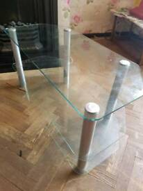 Glass 3 tier tv unit