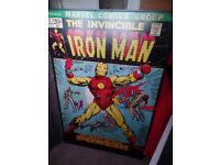 kids Iron Man box frame canvas picture