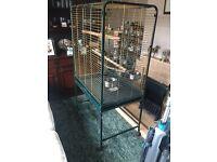 5ft Bird Cage for sale, 5 door cage on castors