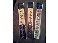Craft brass embossing stencils x3 flower theme banners