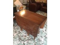 Two Leaf Fold Down Table with side storage