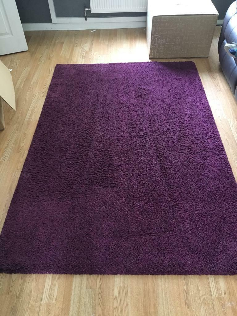 purple rug ikea adum deep pile in west heath west
