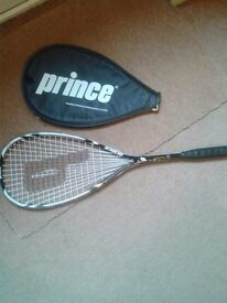 PRINCE SQUASH RACKET AND COVER