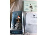 Baby Oleg as Olaf - Brand New In Box With Certificate