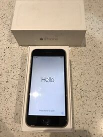 iPhone 6 boxed with charger and headphones
