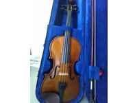 STENTOR VIOLIN 4/4 MINT CONDITION W/ HARD SHELL CASE AND ACCESSORIES