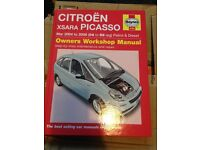 Citroen X data Picasso parts and Haynes manual 2004 1.6 diesel