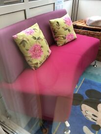 Great sofa bright pink comfortable currently in playroom! Lovely item bargain no offers Coll Mhead