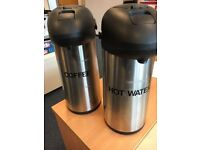Two Hot Water Caddies
