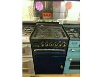 LEISURE 55CM GAS DOUBLE OVEN COOKER IN BLACK