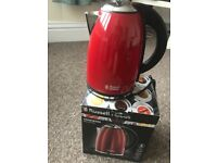RUSSELL HOBBS Red Gloss Kettle new in box