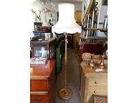 Vintage pine standard lamp