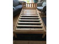 Single pine bed frame from Argos v good condition
