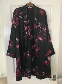 Ladies Next size M satin dressing gown - knee length