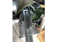Tent awning poles in canvas bag
