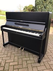 Kemble modern black upright piano| free delivery |