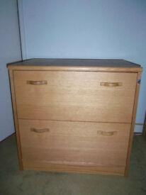 John Lewis oak 2 large drawer filing unit