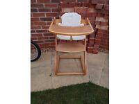Wooden highchair /toddler/childs chair
