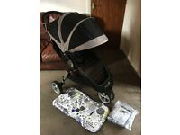 CAN POST IMMACULATE Baby Jogger NEW LOGO City Mini Pushchair & EXTRAS AWARD WINNING HOLIDAY PRAM