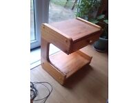 SIDE TABLE in Light Wood with DRAWER