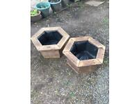 Hexagonal pot planters