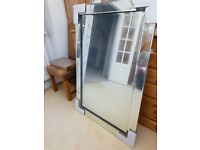 Large Wall Mirror 80 x 120 Bevelled edge Brand New