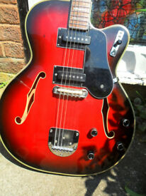 welson hollow body guitar,rarec1960s rare