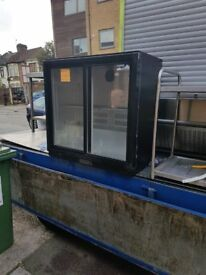TWO DOOR BAR FRIDGE AST182