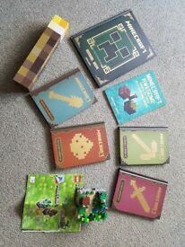 Minecraft lego, books and torch bundle