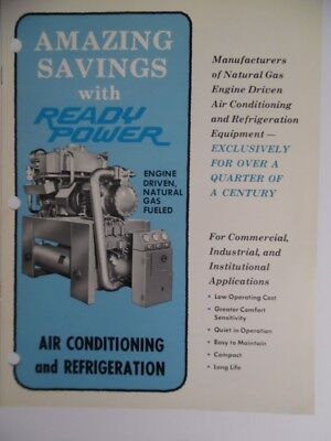 C.1967 Ready Power Engine Driven Air Conditioning Refrigeration Equip Brochure