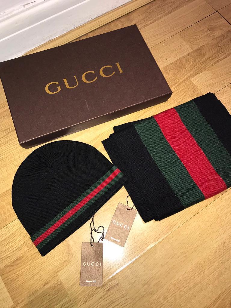 Gucci Hat   Scarf Set  eb276c64646