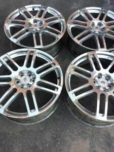 CADILAC SRX 2009 FACTORY OEM 20  INCH ALLOY WHEELS WITH SENSORS IN EXCELLENT CONDITION.LUG NUTS INCLUDED.