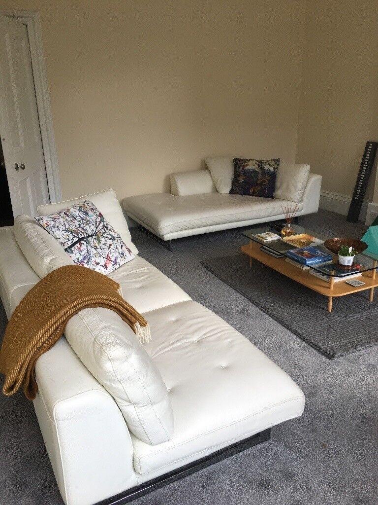Sofa - Roche Bobois - White Fench Leather
