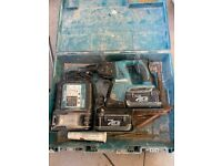 Makita 36v SDS drill with 2 batteries