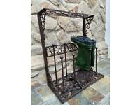 Vintage Cast Iron Boot Rack Stand