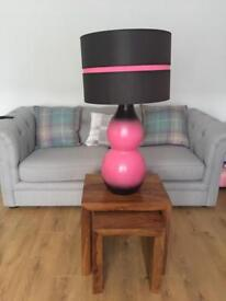 Pink lamp 34 inches high