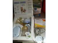 Avent breast pump electric and manual.
