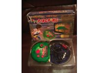 Retro Gaming Set. Virtual Ping Pong, electronic game with box & Radica I-Racer with box
