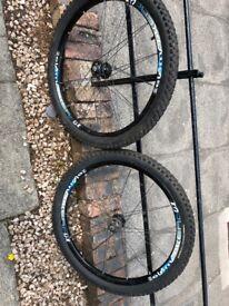 "26"" Mountain Bike wheels with Kenda Nevegal tyres"