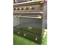 Stunning Lacanche Cluny Range cooker Stainless Steel and brass Kitchen appliance
