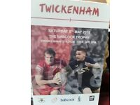 GRAB YOUR CHABCE TO BE AT THE GREATLY ANTICIPATED ARMY V NAVY GAME SATURDAY MAY 5TH, TWICKENHAM. X2