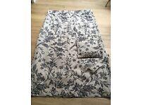 3 Curtains in Laura Ashley floral neutral fabric 270 cms w x 215 cms l