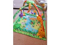 fisher price musical play gym/ play mat