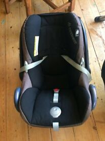 Maxi-Cosi CabrioFix Car Seat Plus Base and Accessories