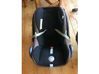 Maxi-Cosi CabrioFix Car Seat Plus Base and Accessories