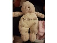 Mothercare bedtime bear pink